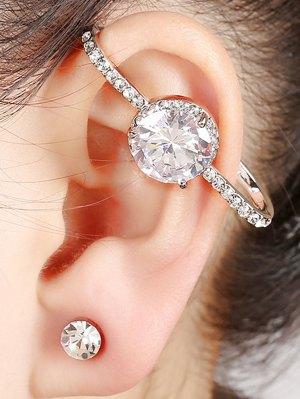 Fake Zircon Cuff Earring - Silver