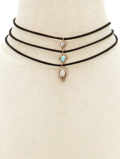 Faux Opal Layered Necklace