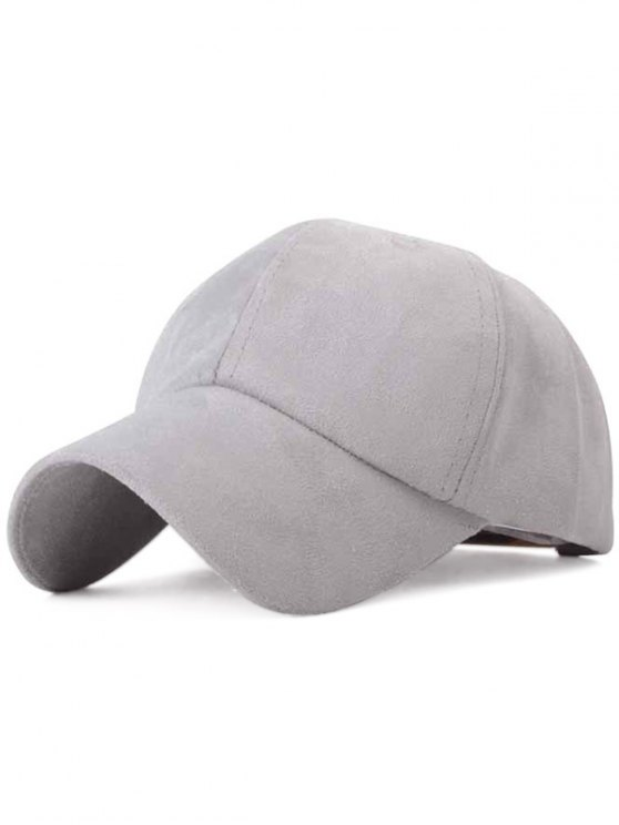 Ice-Cream Color Suede Baseball Hat - GRAY  Mobile