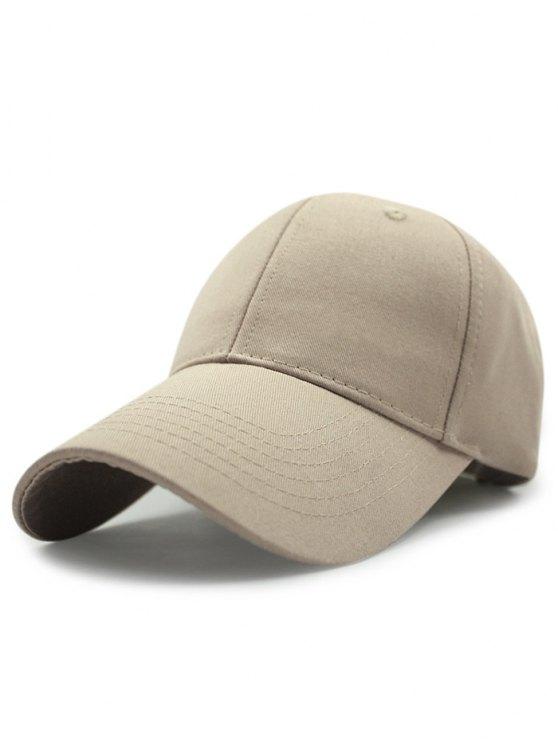 trendy Solid Color Sunscreen Baseball Hat - KHAKI