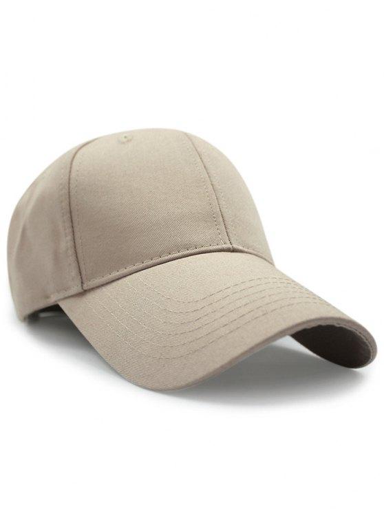 Solid Color Sunscreen Baseball Hat - KHAKI  Mobile