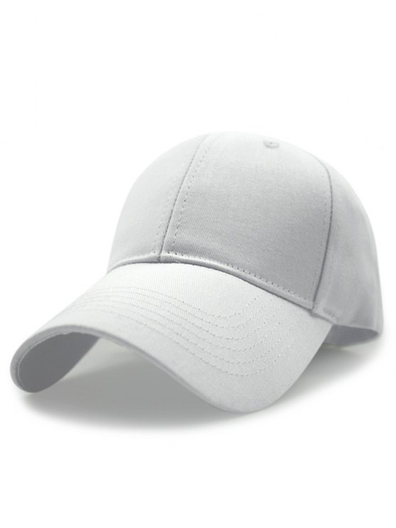 Solid Color Sunscreen Baseball Hat - WHITE  Mobile