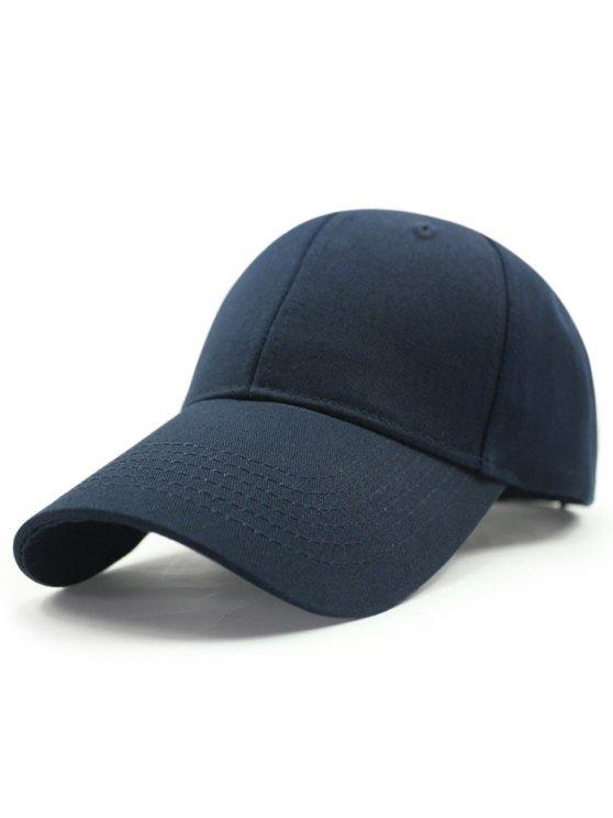Solide Couleur Sunscreen Baseball Hat - Bleu Foncé