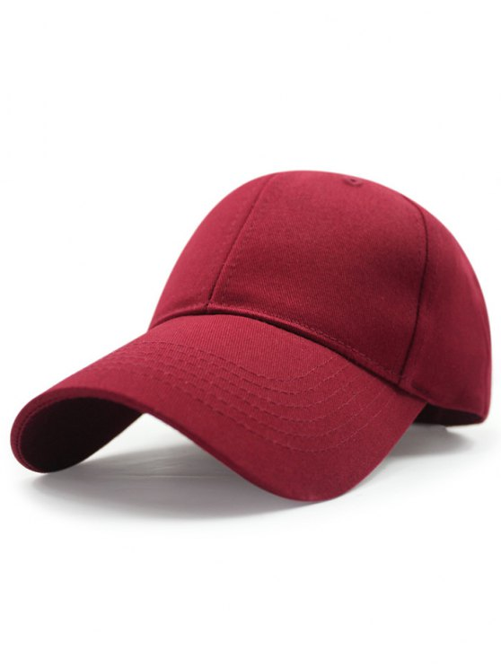 sale Solid Color Sunscreen Baseball Hat - CLARET