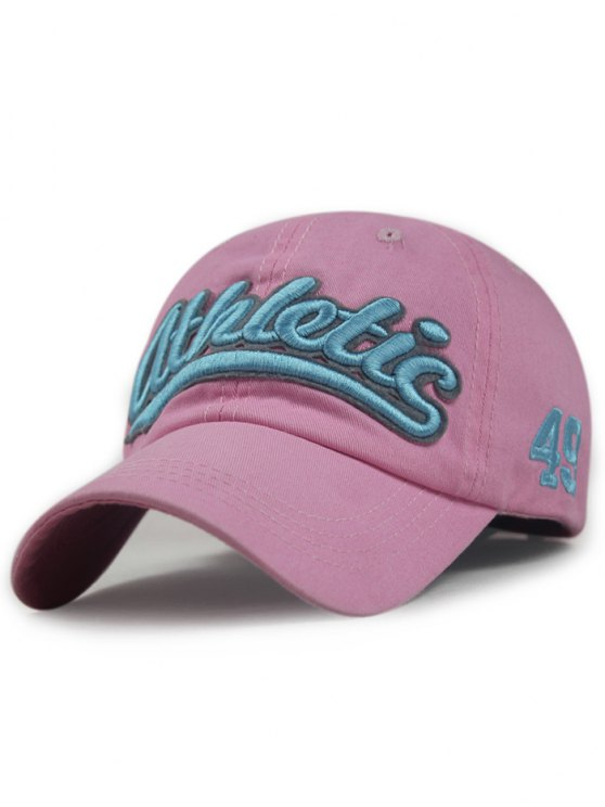 Lettre Embroideried Baseball Hat - ROSE PÂLE