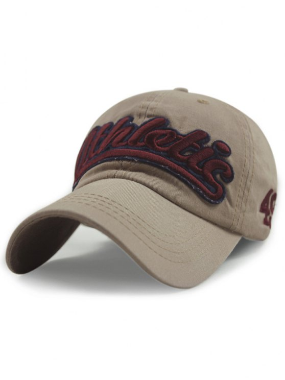 outfit Letter Embroideried Baseball Hat - KHAKI