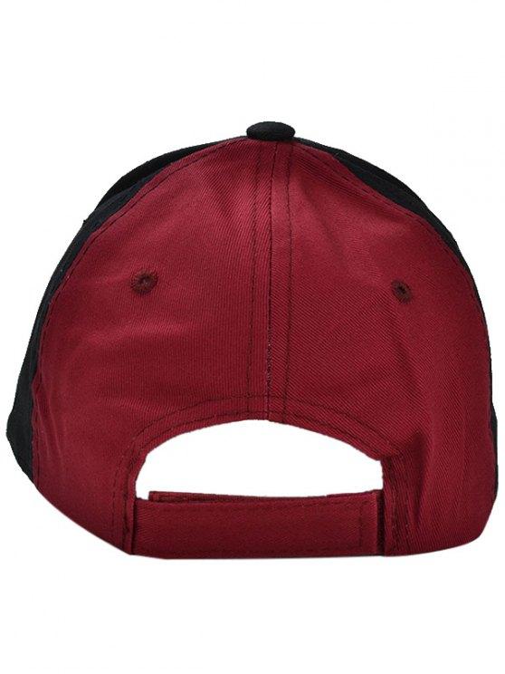 Gothic Letter U Embroideried Baseball Hat - BLACK  Mobile
