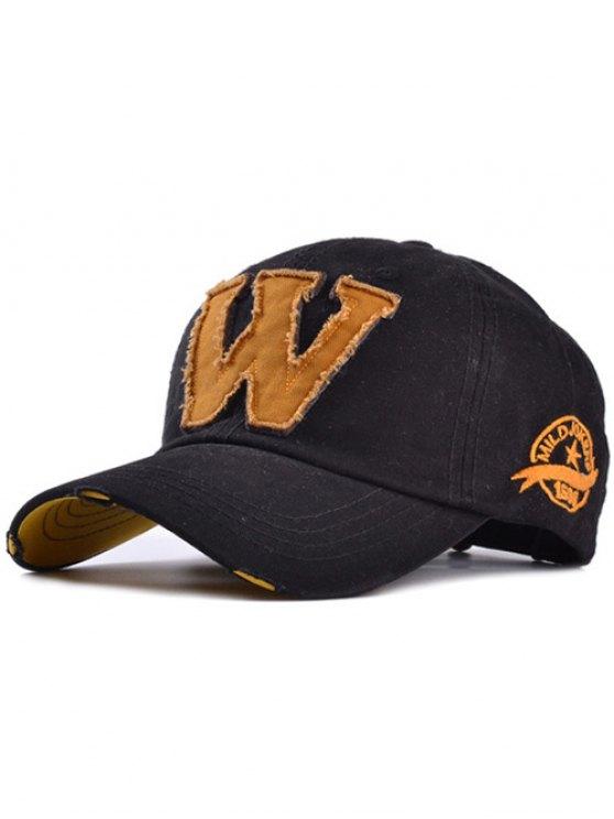 best Letter W Baseball Hat - BLACK