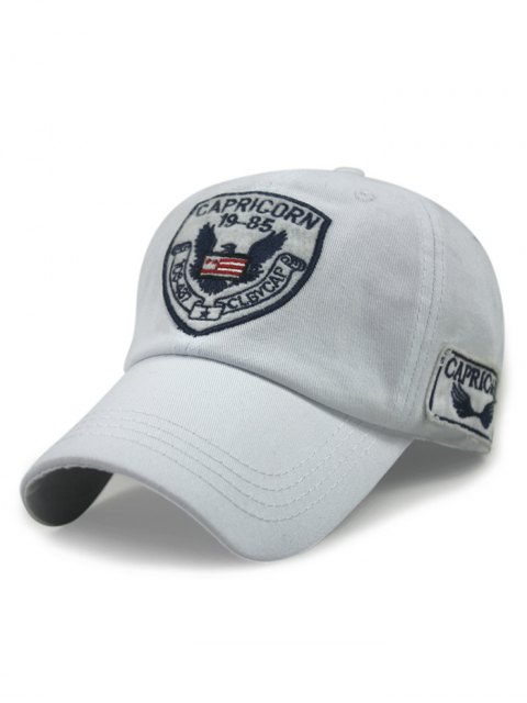buy Logo Embroideried Baseball Hat - WHITE  Mobile