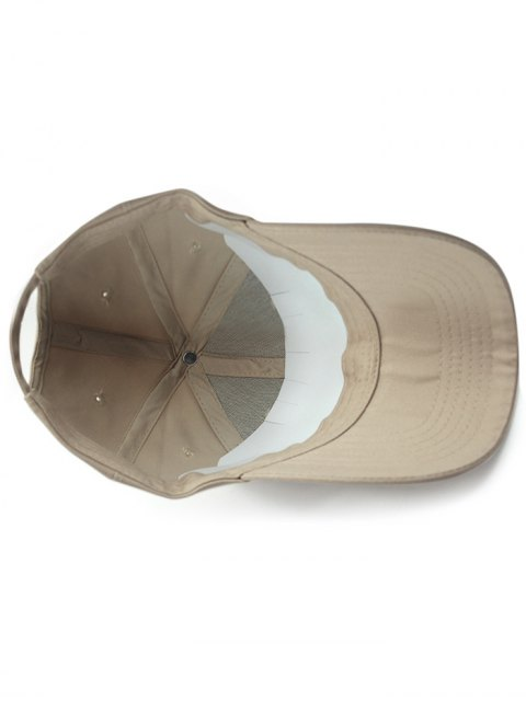 trendy Solid Color Sunscreen Baseball Hat - KHAKI  Mobile