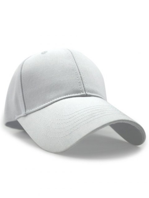 chic Solid Color Sunscreen Baseball Hat - WHITE  Mobile