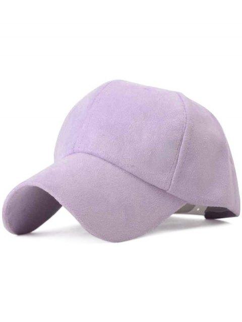 sale Ice-Cream Color Suede Baseball Hat - LIGHT PURPLE  Mobile