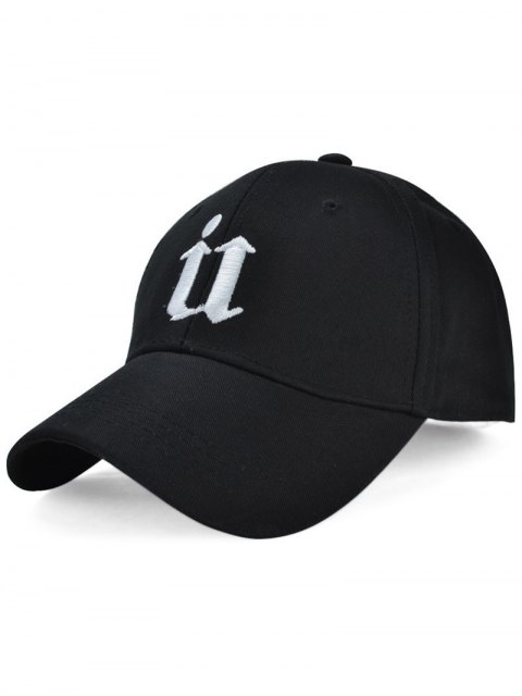buy Gothic Letter U Embroideried Baseball Hat - BLACK  Mobile