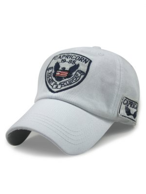 Logo Embroideried Baseball Hat - White