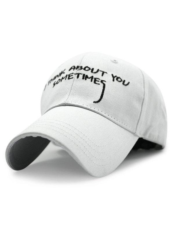 English Sentence Embroideried Baseball Hat