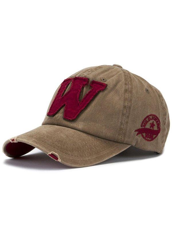 Letter W Baseball Hat