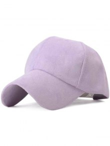 Ice-Cream Color Suede Baseball Hat - Light Purple