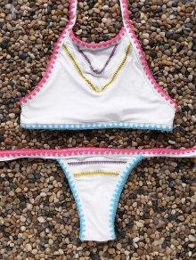 Low Waisted High Neck Bikini Set