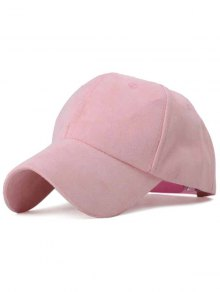 Ice-Cream Color Suede Baseball Hat - Pink