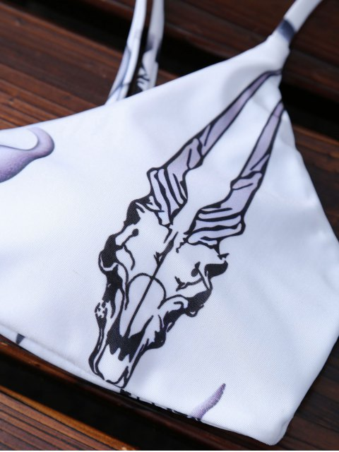 new Animal Print Padded Bikini - WHITE M Mobile