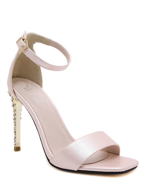 Pink Color Ankle Strap Sandals
