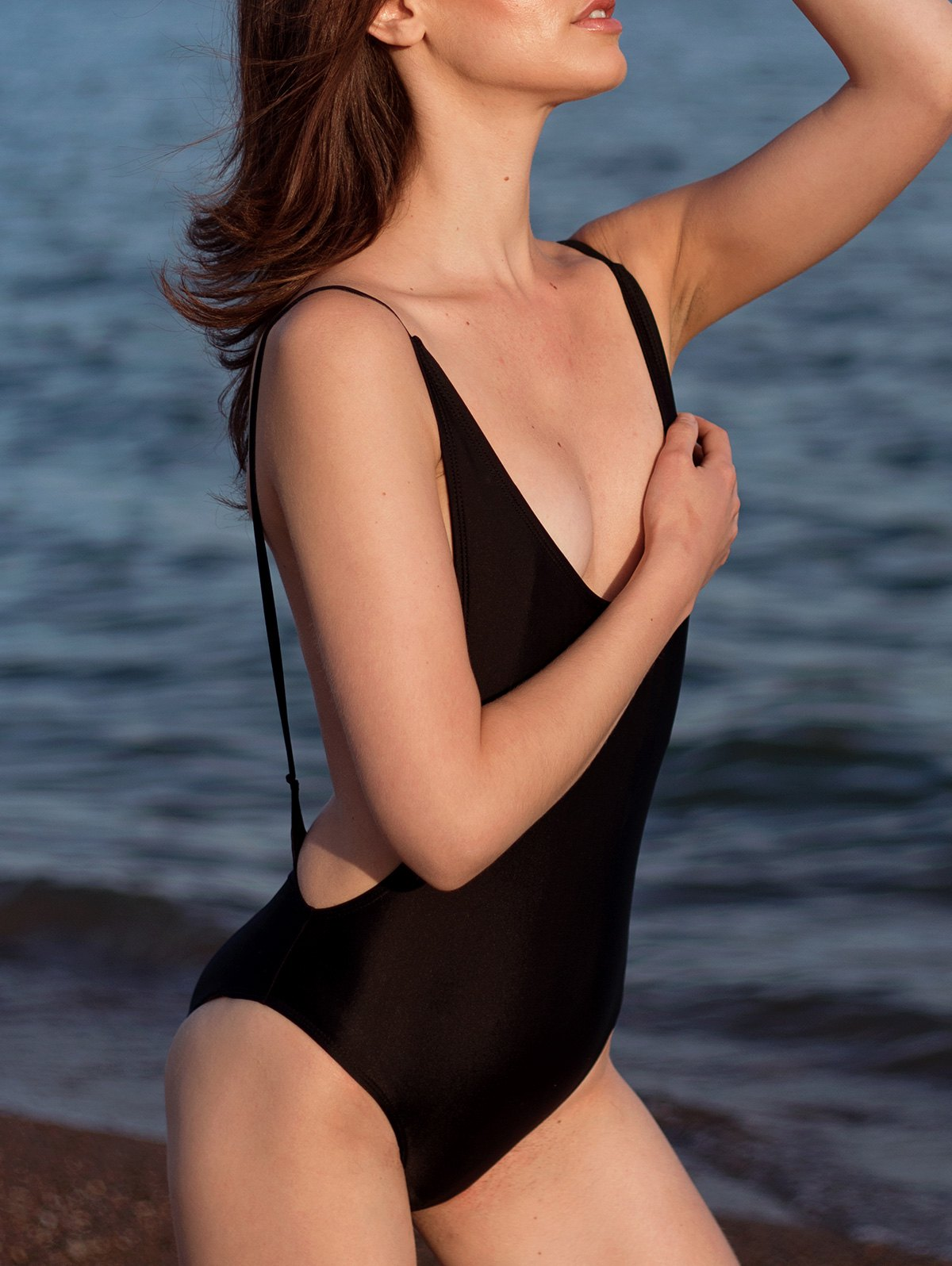 High Cut Backless One-Piece Swimwear