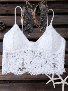 White Lace Bralette - White