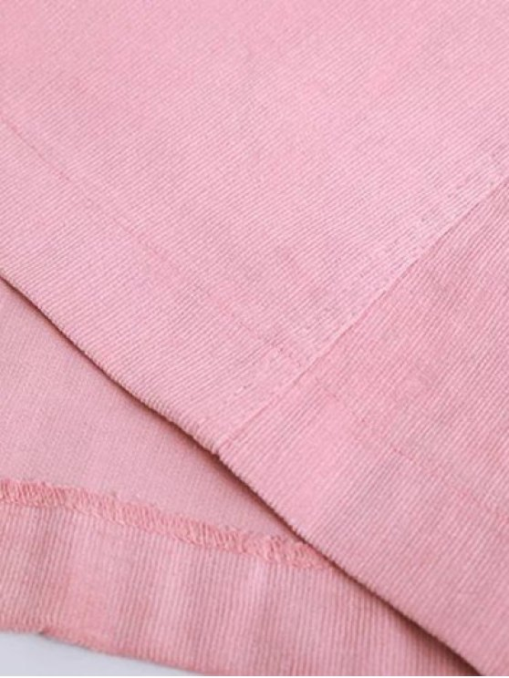 Button Up Mini Corduroy Skirt - PINK M Mobile