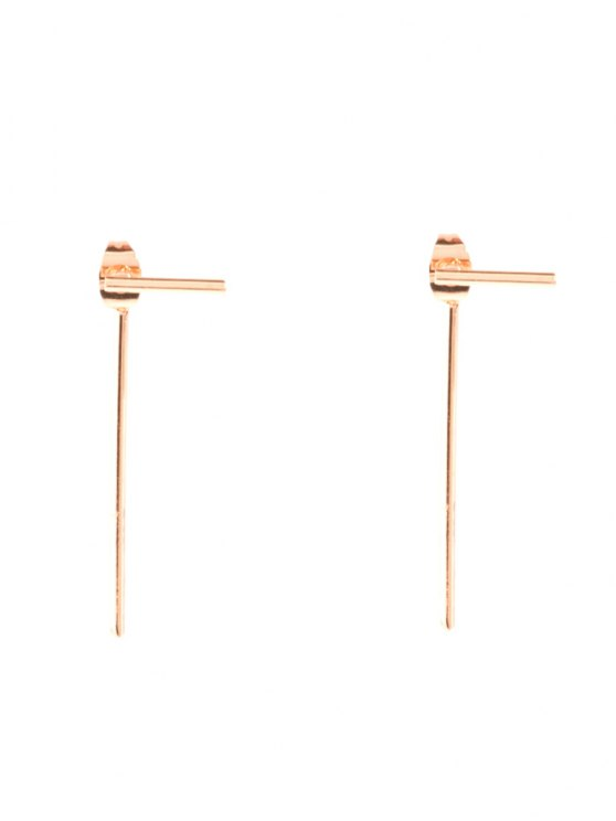 Design minimaliste Boucles d'oreilles - Or