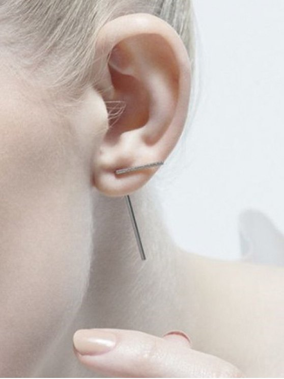 Minimalist Design Earrings - SILVER  Mobile