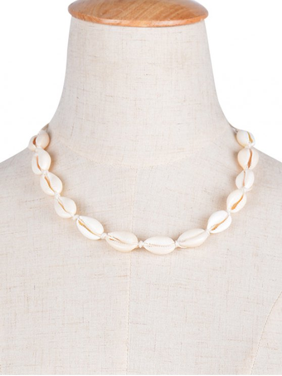 Shell Choker Necklace - WHITE  Mobile