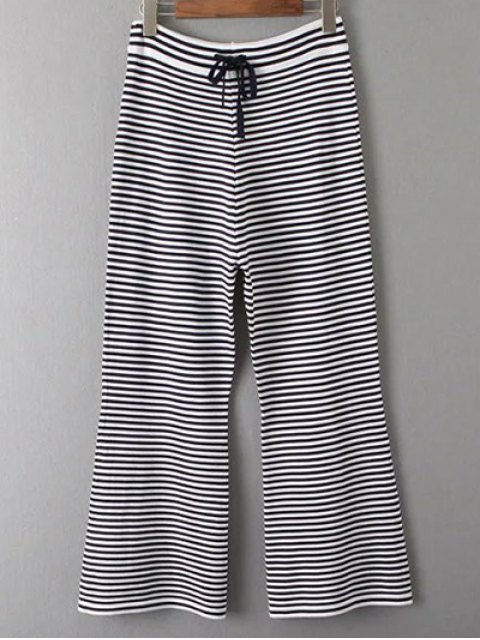 outfit Sleeveless T-Shirt and Striped Pants Twinset - WHITE AND BLACK ONE SIZE Mobile