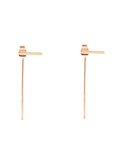 hot Minimalist Design Earrings - GOLDEN  Mobile