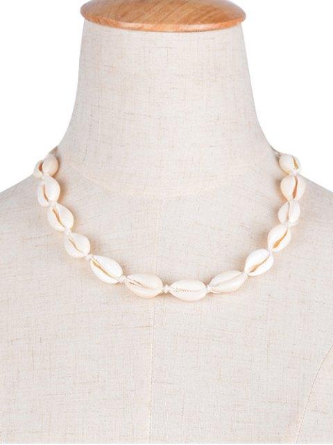 fashion Shell Choker Necklace - WHITE  Mobile