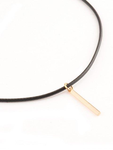 chic Metal Bar Choker Necklace - GOLDEN  Mobile