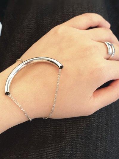 U Shape Elbow Bracelet - SILVER  Mobile