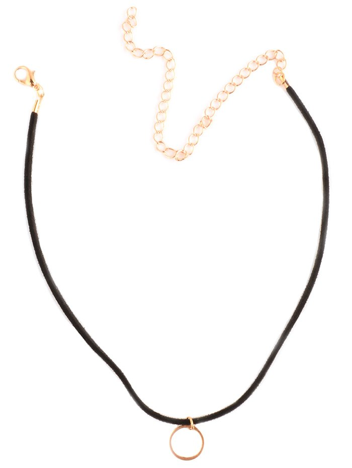 Simple Circle Choker Necklace