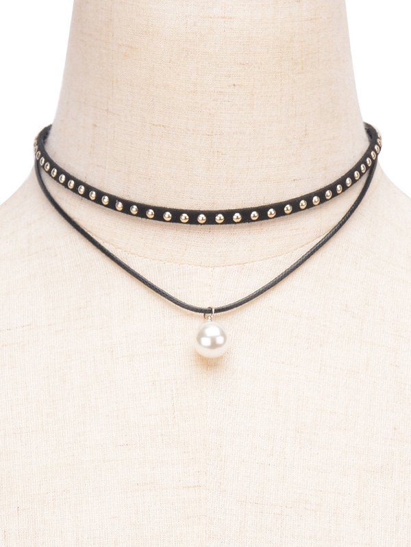 Rivet Layered Choker