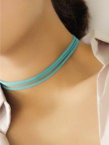 Strand Layered Velvet Choker Necklace