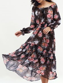 Long Sleeve Swingy Maxi Dress