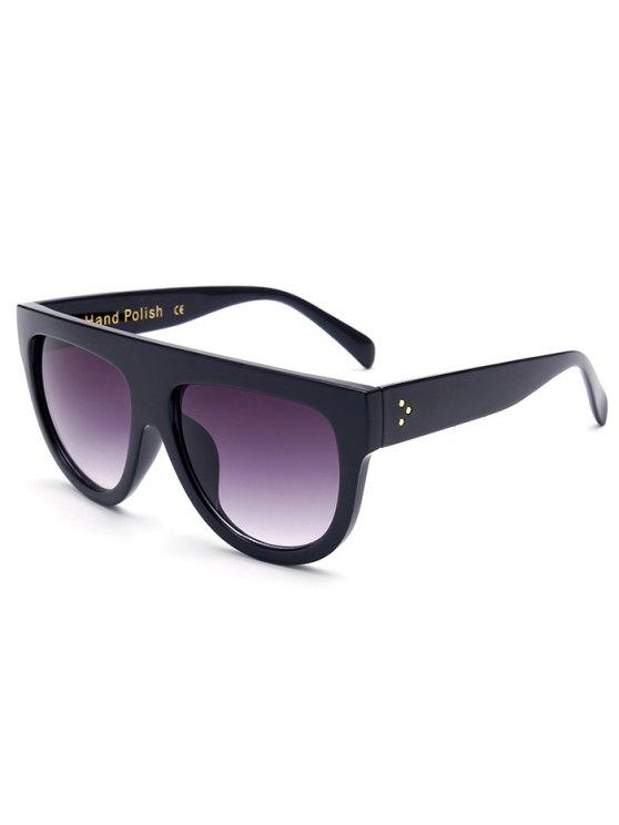 Simple Full-Rim Black Sunglasses - BLACK  Mobile