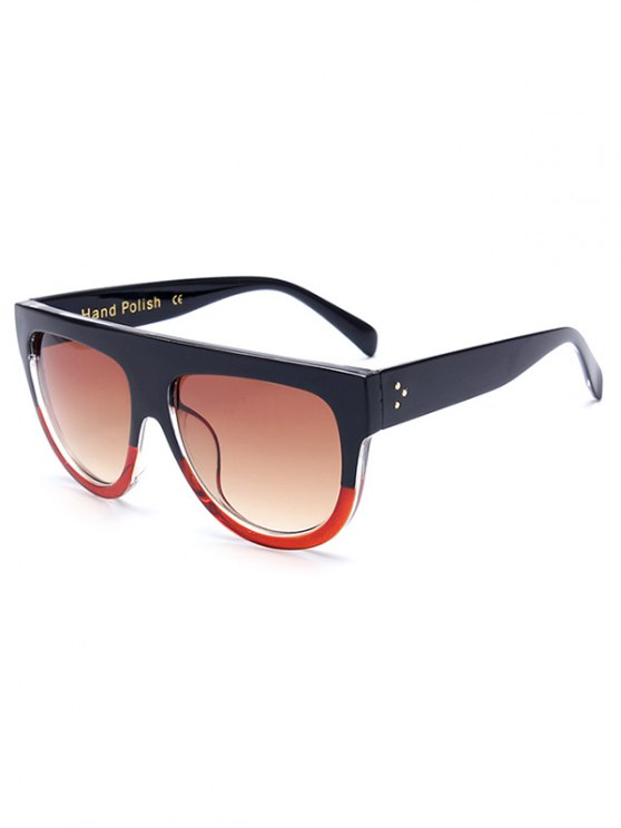 shops Simple Two Color Match Sunglasses - RED