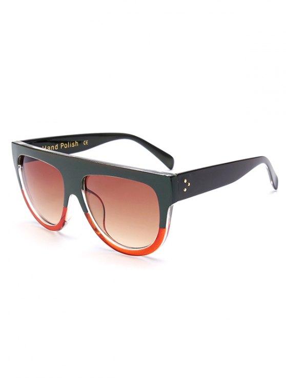 Dos simples gafas de sol de coincidencia de color - Verde negruzco