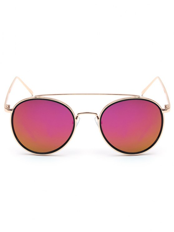 sale Crossbar Golden Mirrored Sunglasses - PURPLE