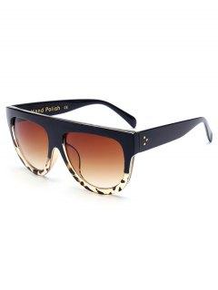 Leopard Pattern Match Black Sunglasses - Black