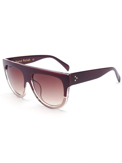 fashion Simple Two Color Match Sunglasses - TEA-COLORED  Mobile