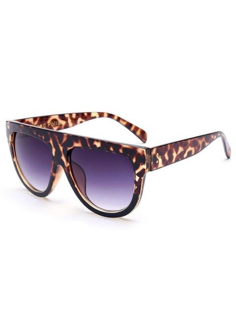 fancy Leopard Pattern Sunglasses - BROWN  Mobile