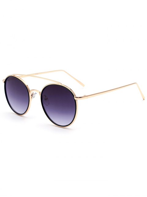 unique Crossbar Golden Frame Sunglasses - GOLDEN  Mobile
