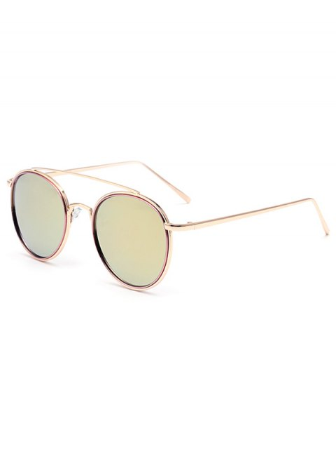 women Crossbar Pink Mirrored Sunglasses - PINK  Mobile