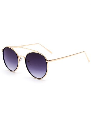 Crossbar Golden Frame Sunglasses - Golden